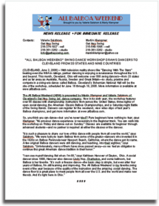 Press Release Writing Sample by FreelancePR.com