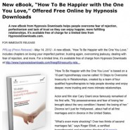 News Release: Free eBook Promotion