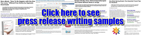 Click to see FreelancePR.com writing samples